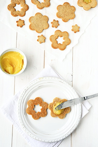 Lemon Curd Sandwich Cookies {Vegan, Grain-free}