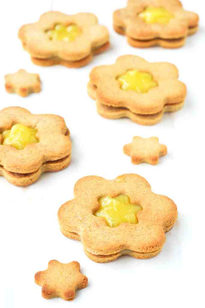 Lemon Curd Sandiwch Cookies {Vegan, Grain-free}