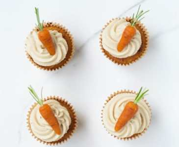 Carrot Cake Cupcakes (Vegan + GF)