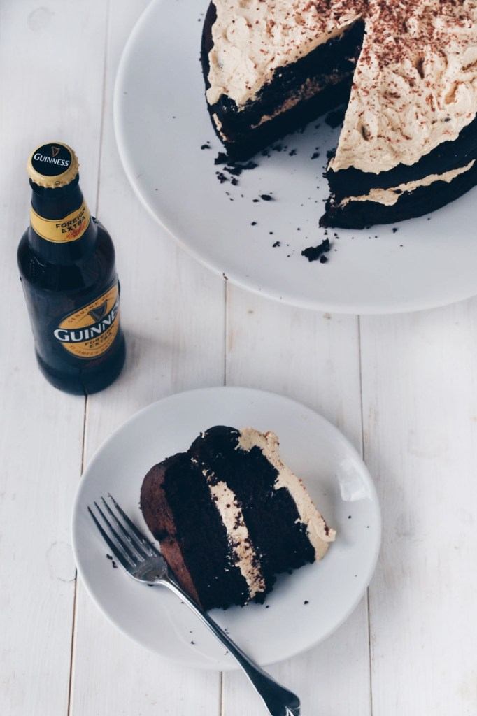 """Chocolate Guinness Cake with """"Baileys"""" Buttercream Frositng"""