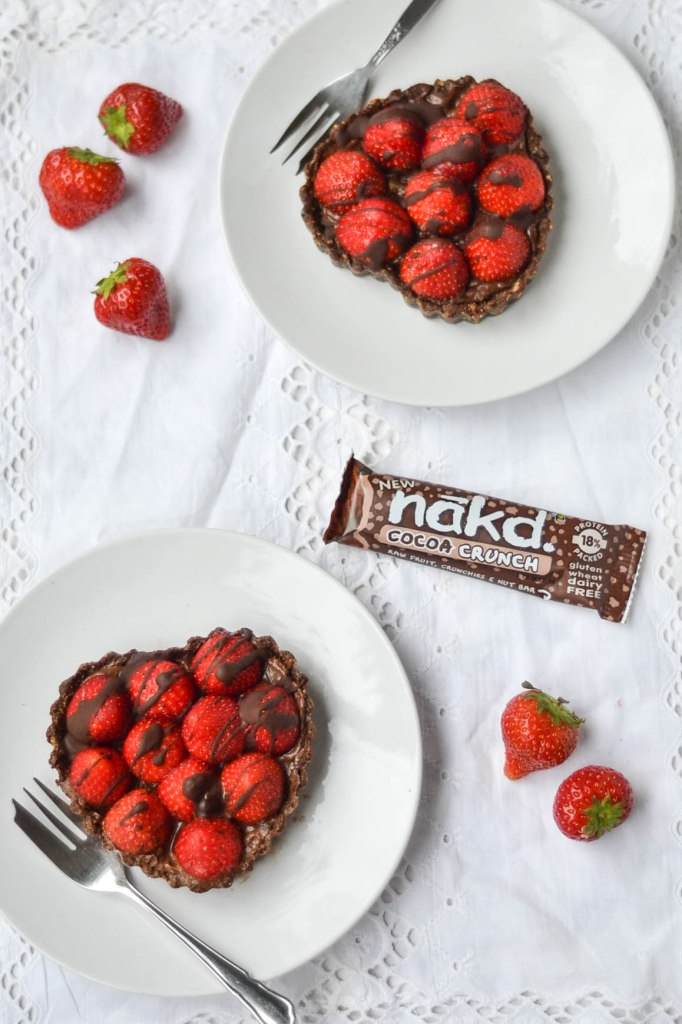 Nakd Raw Chocolate Strawberry Tarts