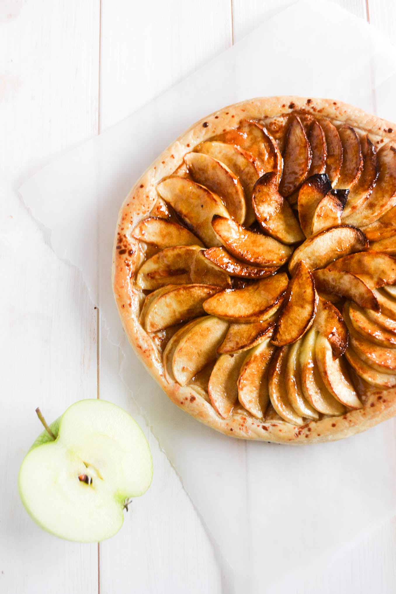 Easy Vegan French Apple Tart Wallflower Kitchen