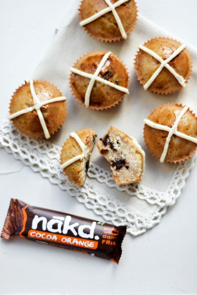 "Nākd ""Hot Cross Bun"" Cupcakes #vegan #glutenfree"