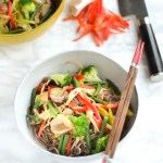 Yuki's Vegetable Stir-fried Soba noodles