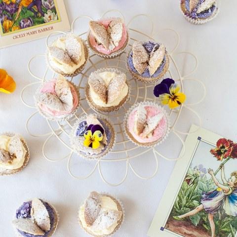 Flower Fairy Cupcakes! #Vegan butterfly cakes inspired by C M Barker's books   wallflowergirl.co.uk