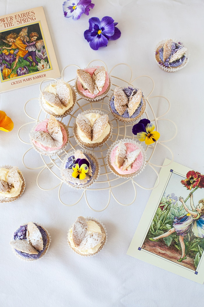 Flower Fairy Cupcakes! #Vegan butterfly cakes inspired by C M Barker's books  |  wallflowergirl.co.uk