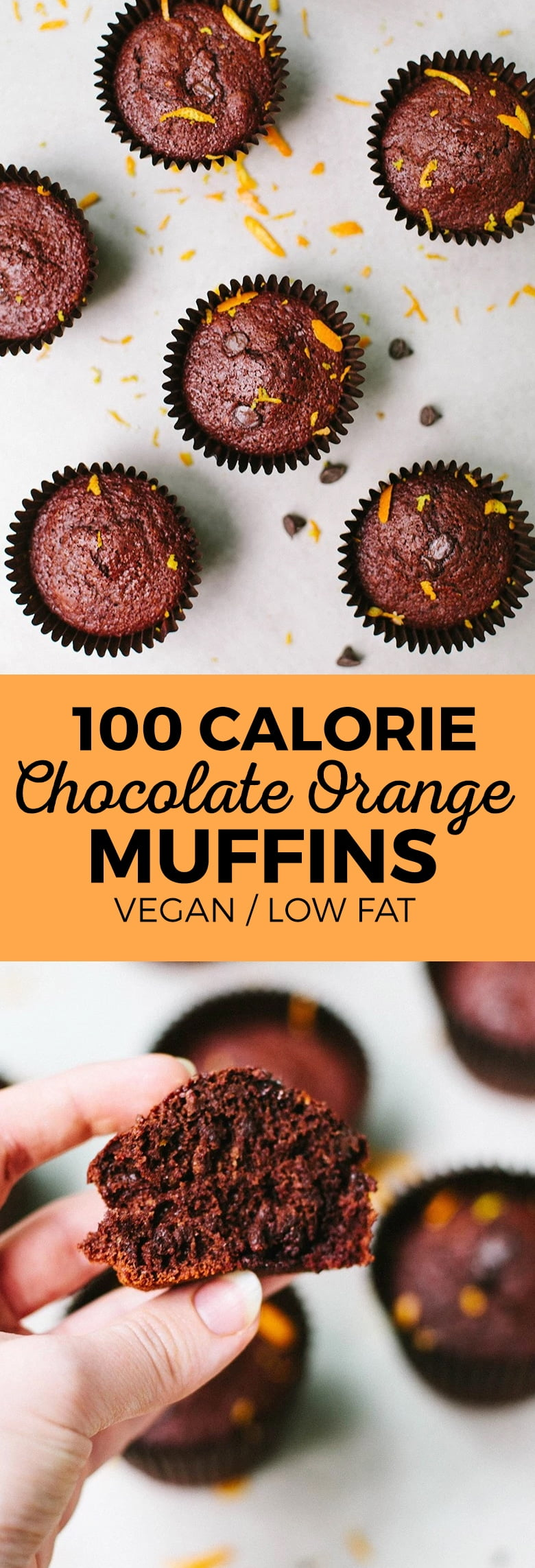100 Calorie Chocolate Orange Muffins (Vegan)