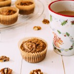 Coffee & walnut Oatmeal Muffins (Gluten-free & Vegan)