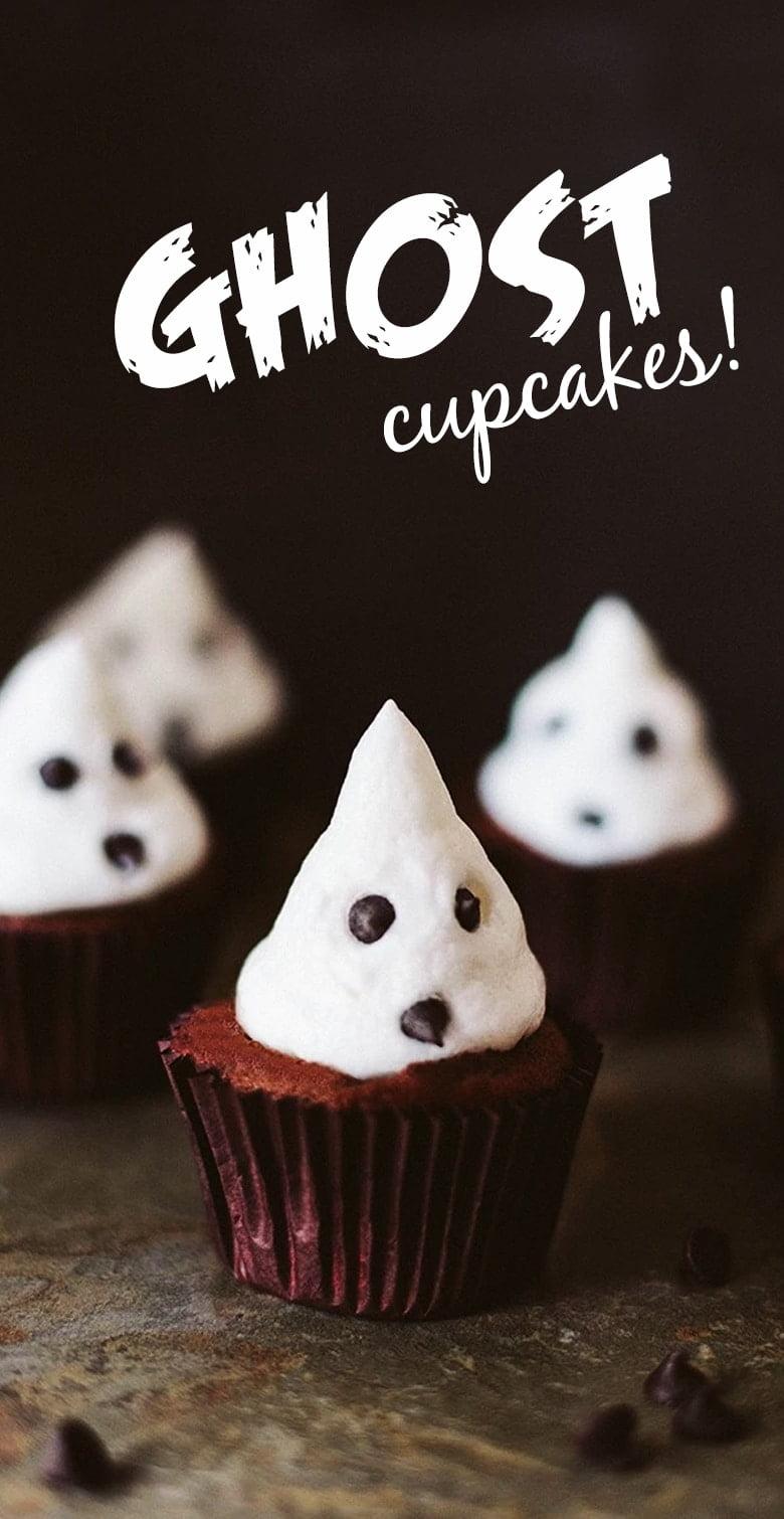 Vegan Chocolate & Marshmallow Ghost Cupcakes!