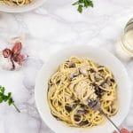 Vegan Garlic Mushroom Spaghetti