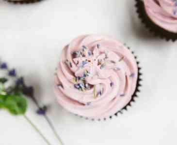 Vegan Chocolate Lavender Cupcakes (Gluten-free Option)