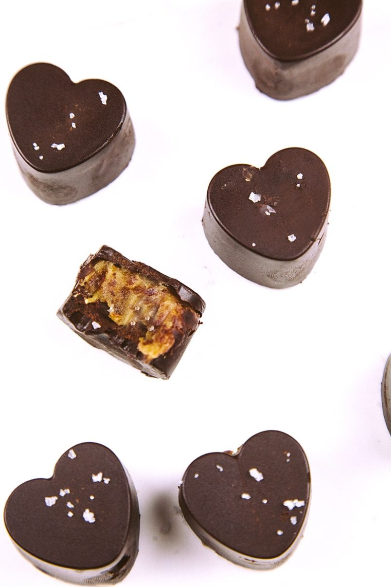 Raw Salted Caramel Chocolates