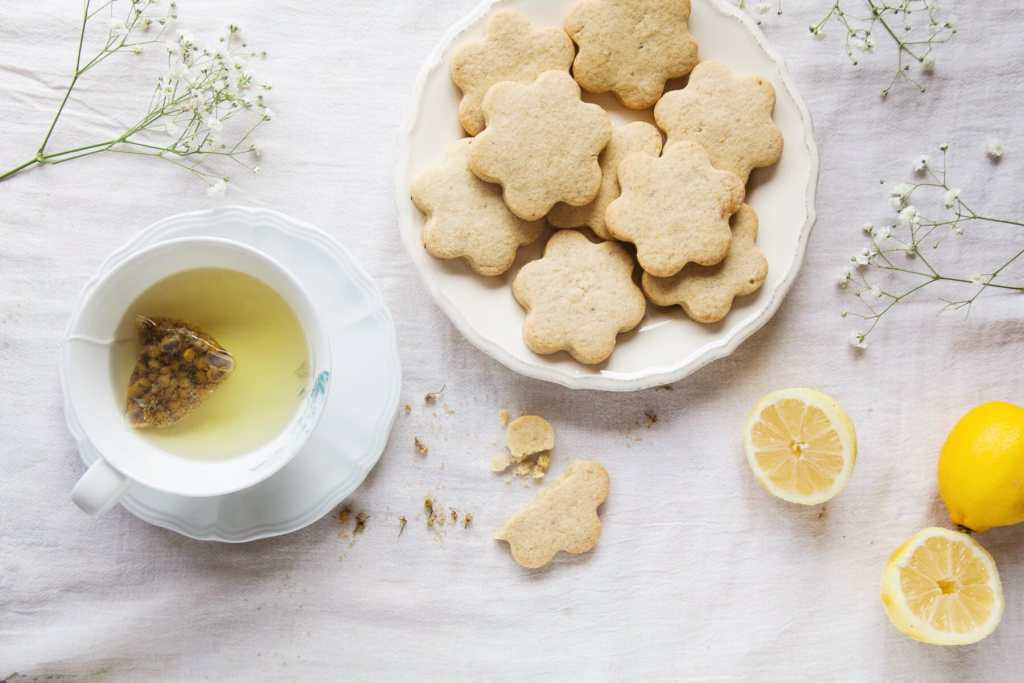 Vegan Chamomile & Lemon Shortbread