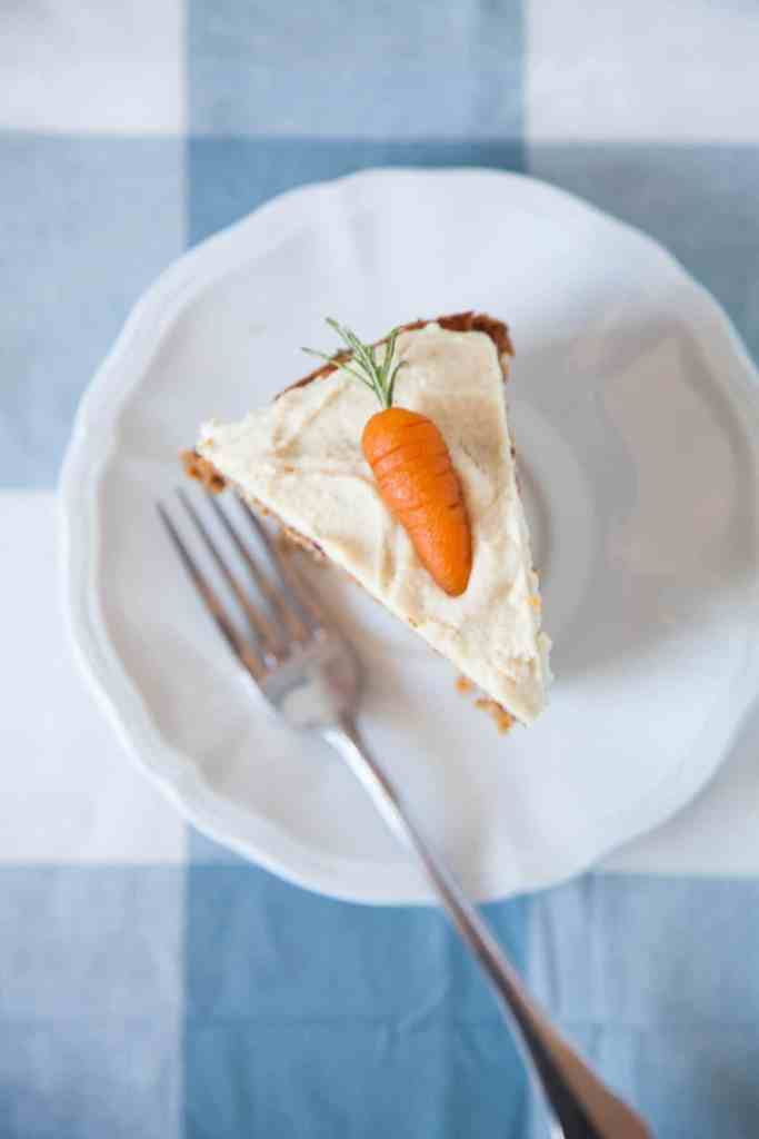 Healthy Vegan Carrot Cake with Almond Orange Frosting