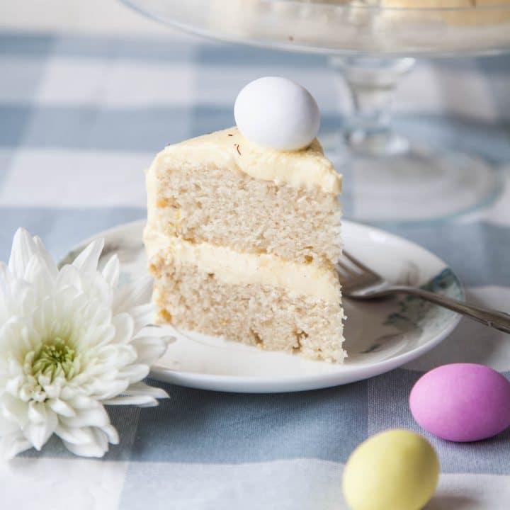 Easter Lemon Sponge Cake (Vegan)