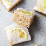 Vegan Lemon Drizzle Bars