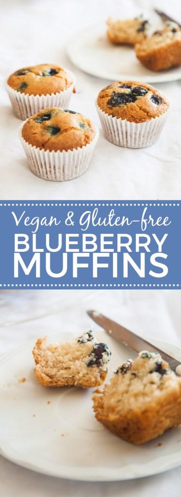 Gluten-free Blueberry Muffins (Vegan)