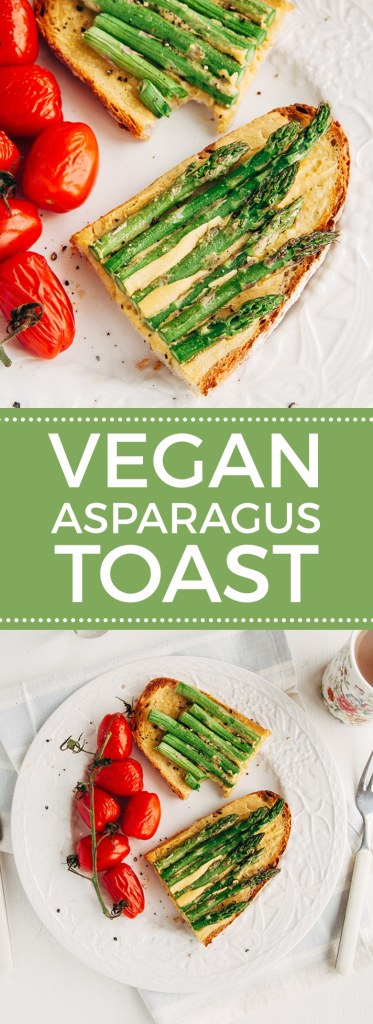 Low-Fat Vegan Asparagus Eggy Toast