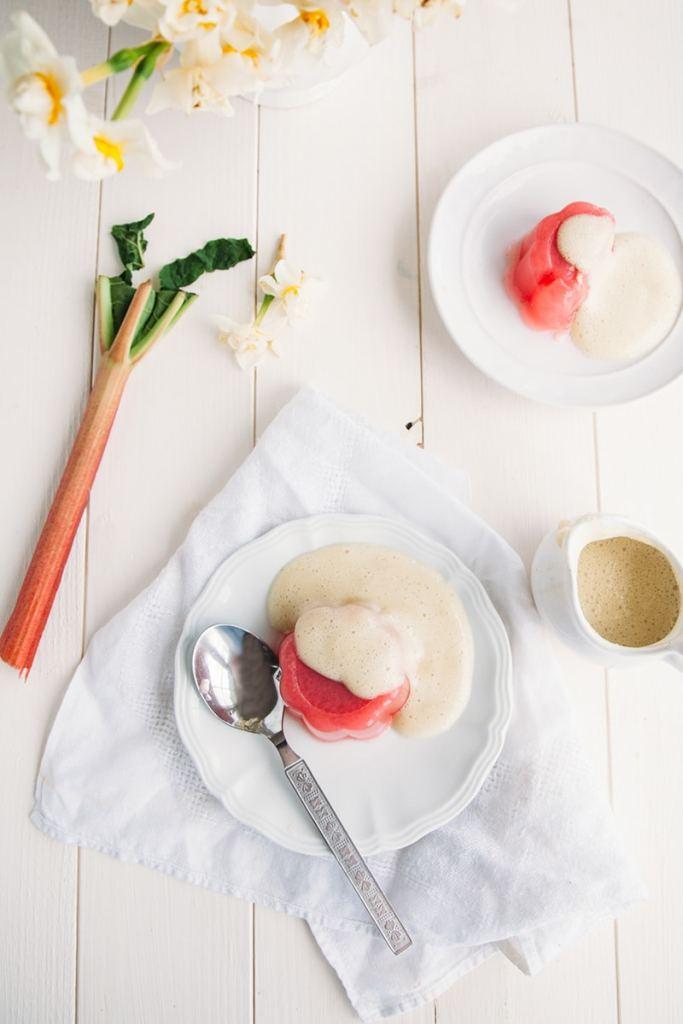 Rhubarb Jelly & Custard #Vegan #GlutenFree #LowFat