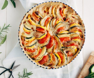 Vegetable Tian with Cheeze Sauce - #vegan #glutenfree #paleo
