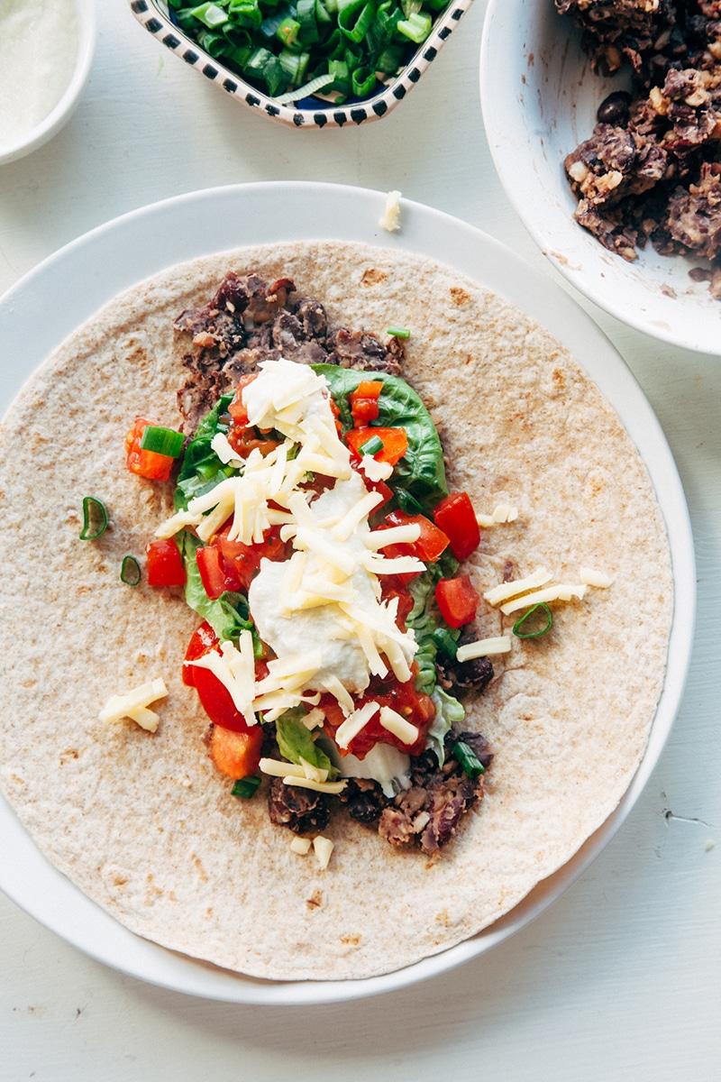 Quick & Healthy Bean Burritos (vegan)