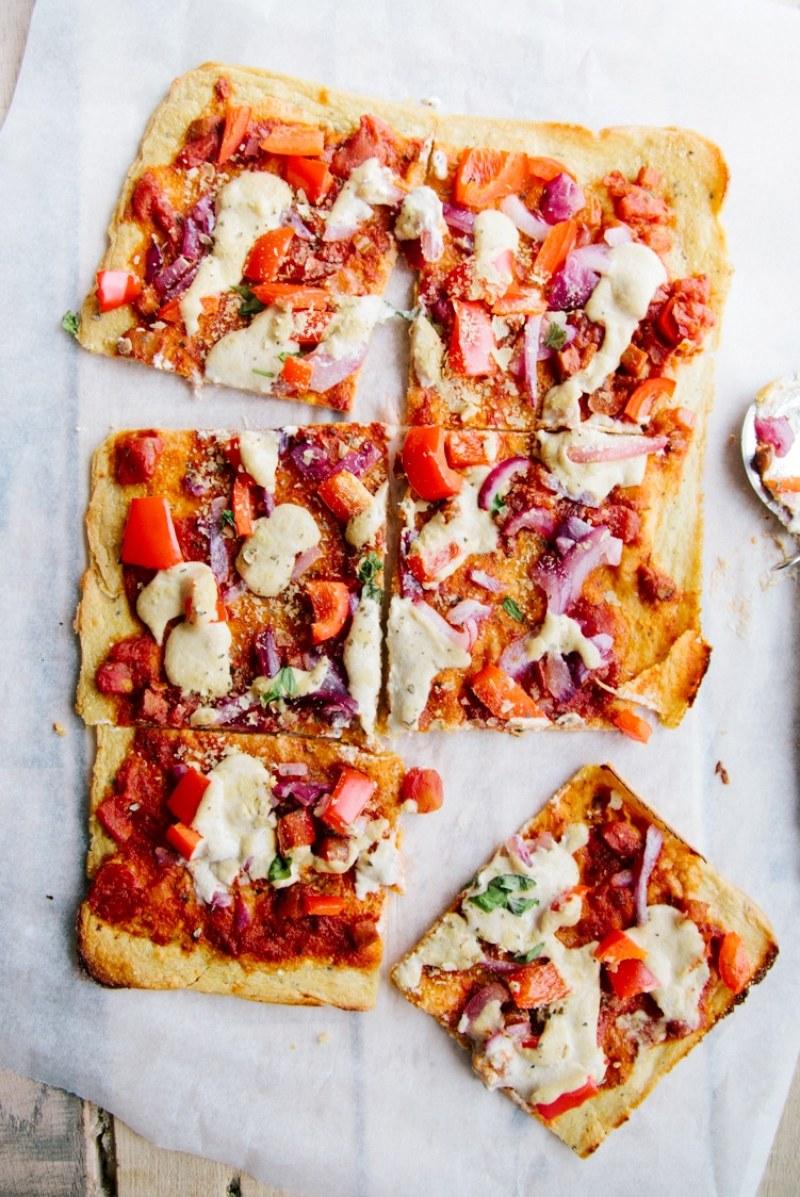 Socca Pizza (Vegan + Grain-free)