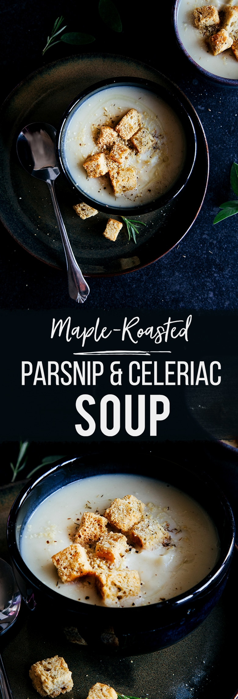 Maple Roasted Parsnip & Celeriac Soup