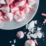 Vegan Candy Cane Meringue Kisses