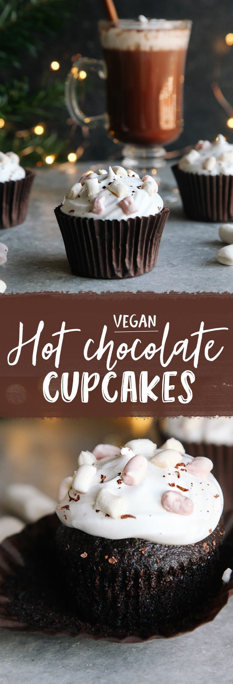 Hot Chocolate Cupcakes (Vegan) - Wallflower Kitchen