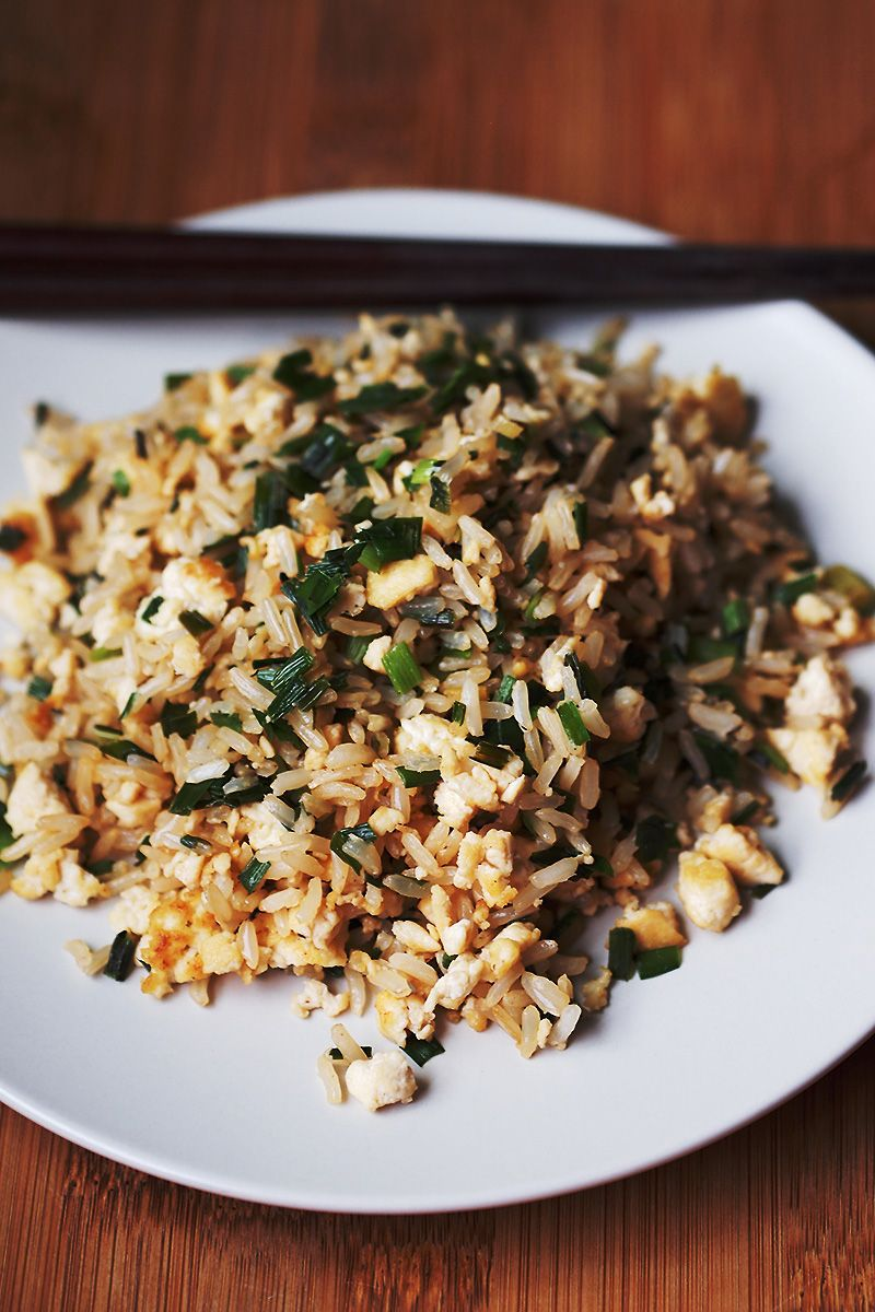 "Easy Vegan ""Egg"" Fried Rice"
