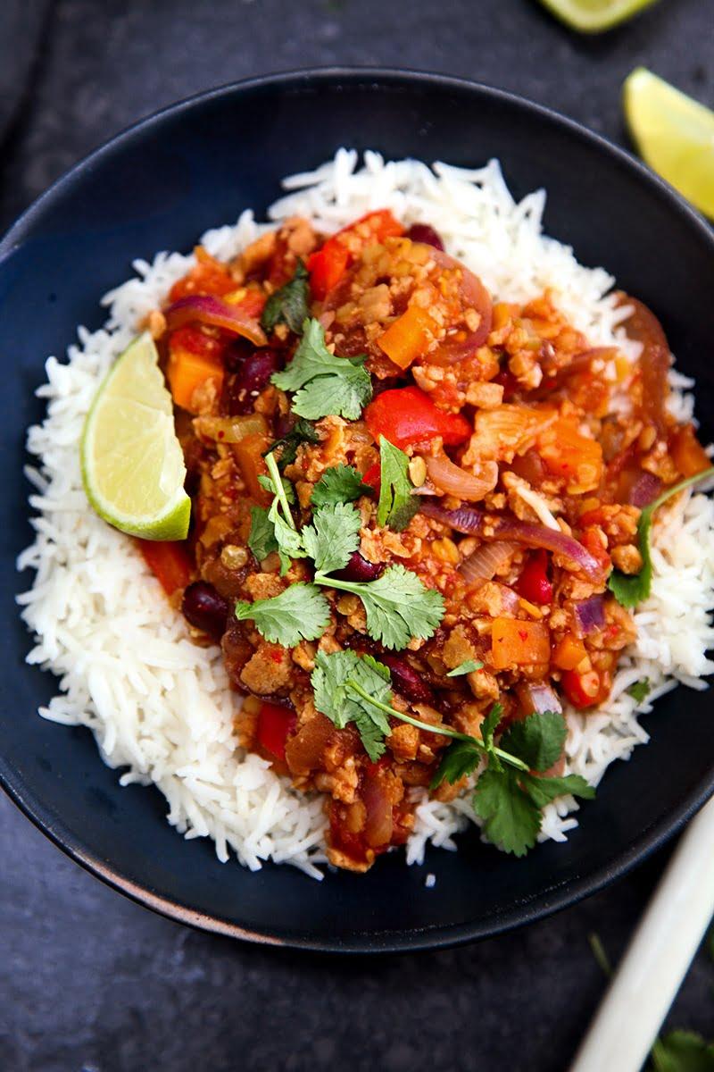 vegetarisk chili con carne recept