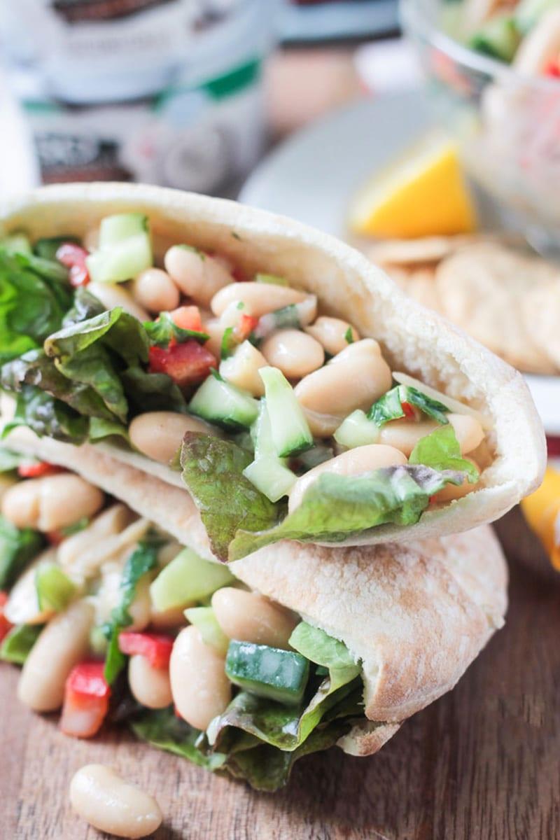 White Bean Salad via veggieinspired.com