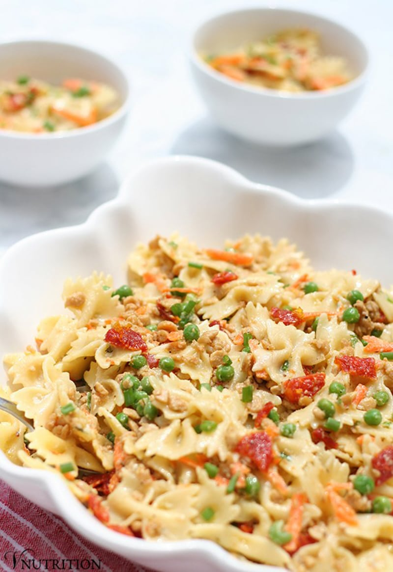 Vegan Ranch Pasta Salad via vnutritionandwellness.com