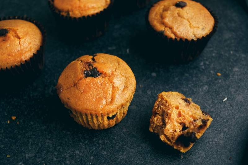#Vegan Chocolate Chip Pumpkin Muffins