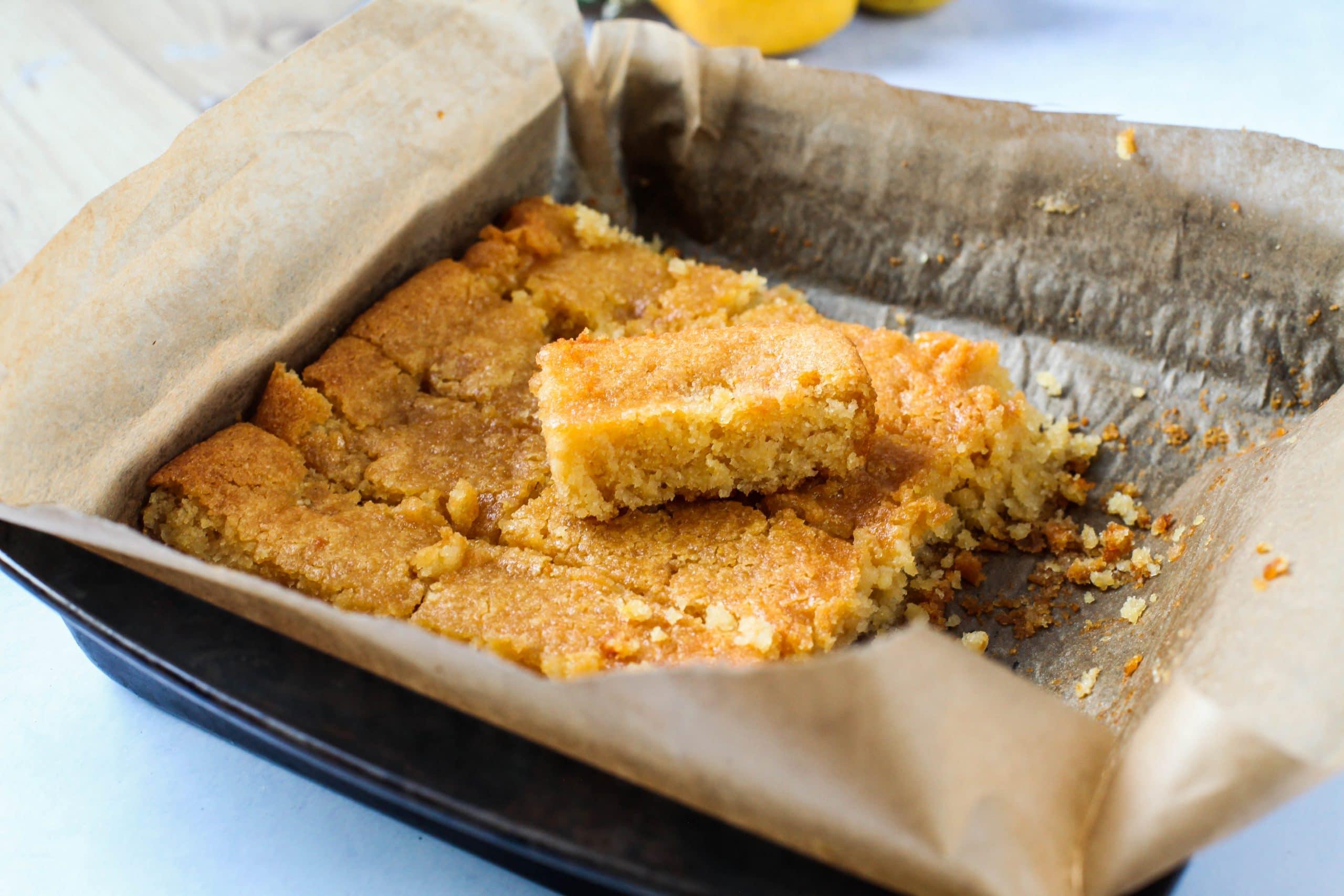 Lemon, Almond & Polenta Cake (Vegan + Gluten-free)