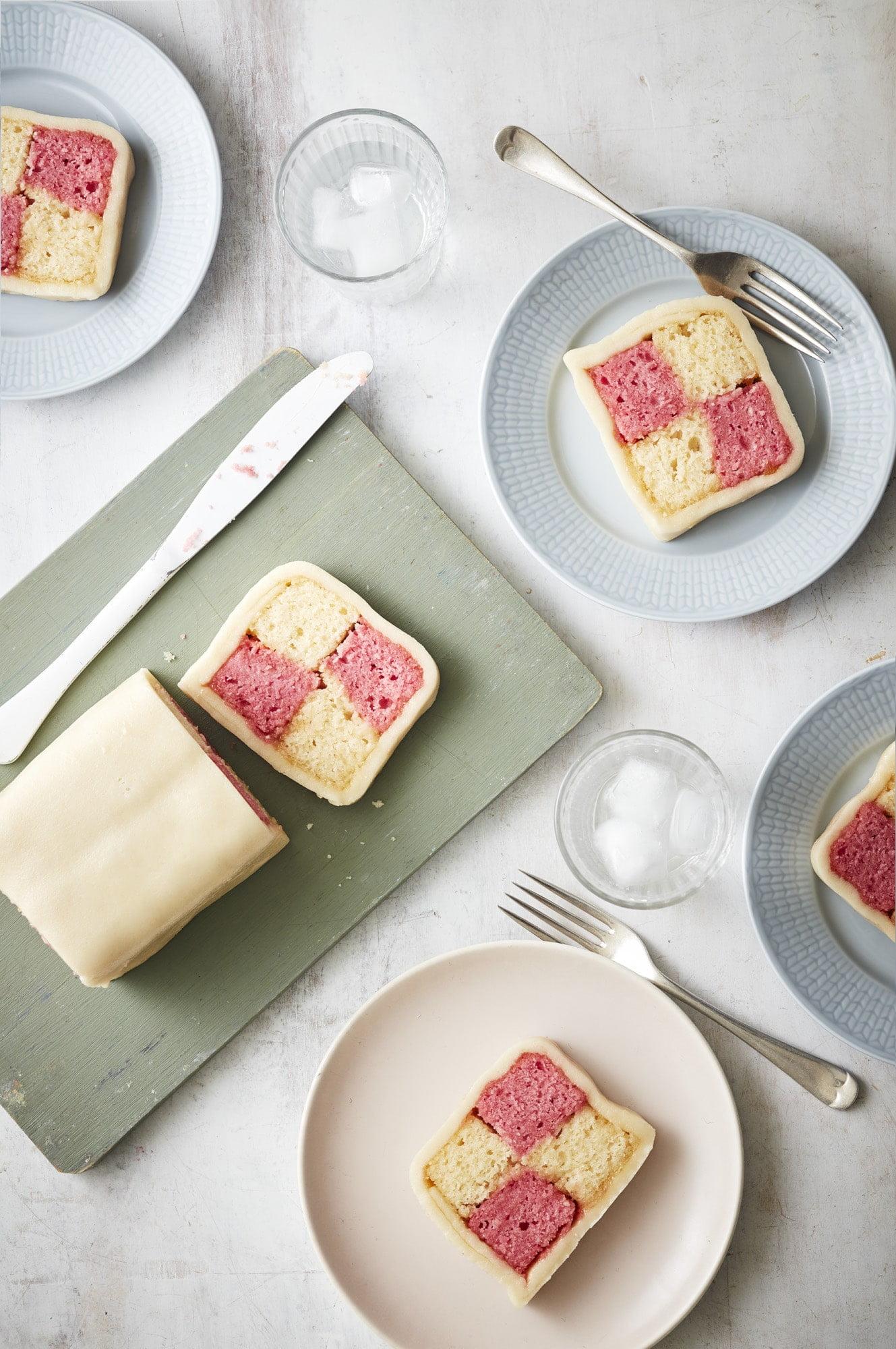 Vegan Battenberg Cake - Great British Vegan Cookbook by Aimee Ryan