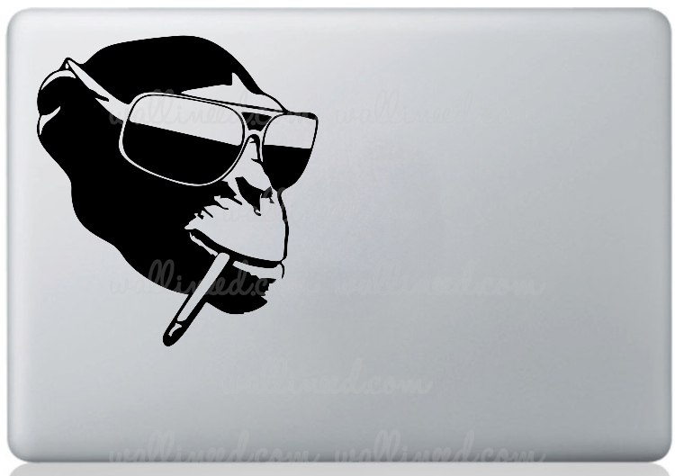 cool monkey laptop sticker