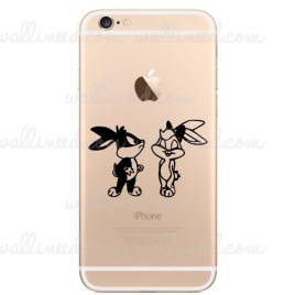 IPhone 6 Bugs Bunny and Lola Bunny Kiss Sticker IPhone 6 Stickers Decal Apple