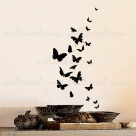 Butterflies Set Wall Decal Vinyl Sticker