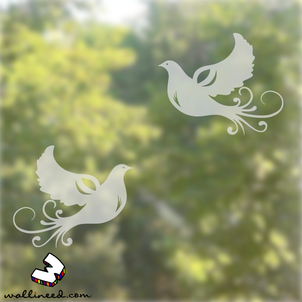 doves window stickers