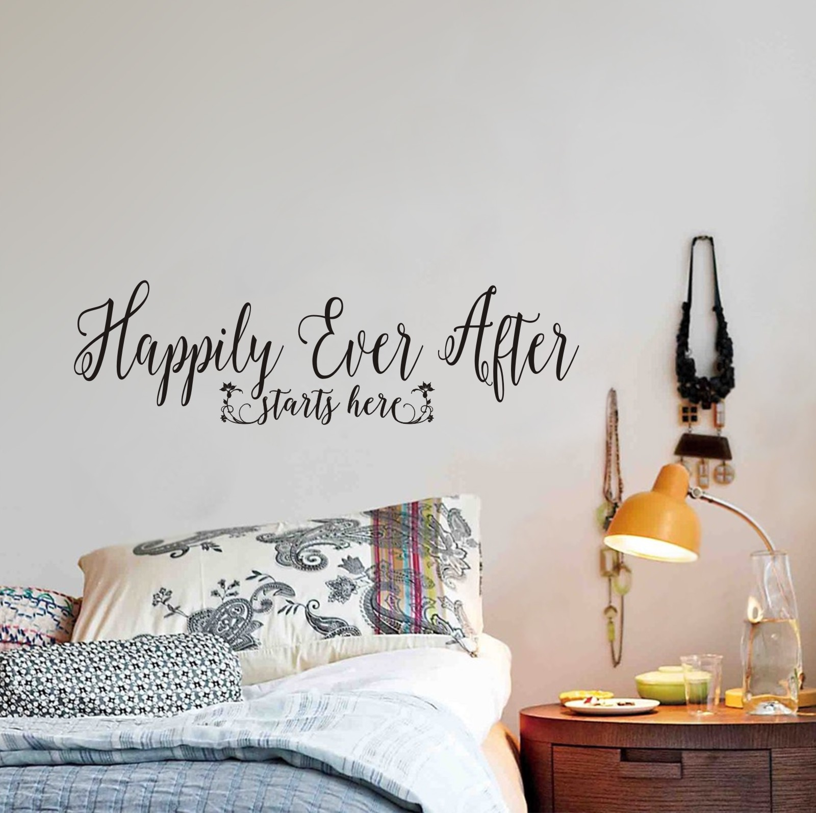 Happily Ever After Starts Here Wall Decal