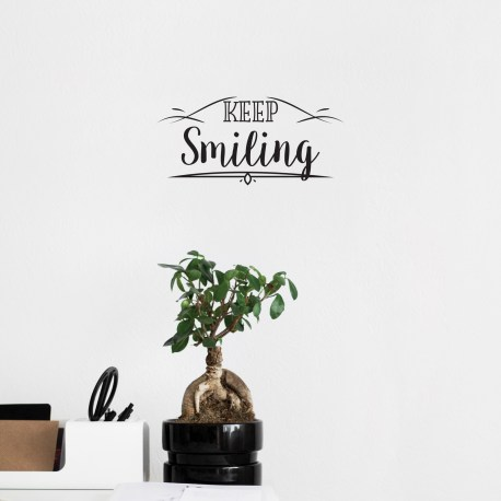 Keep Smiling - Wall Decal