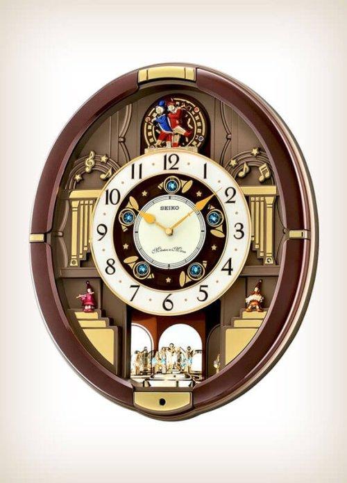Seiko QXM488BRH Danube Melody In Motion Alarm Clock