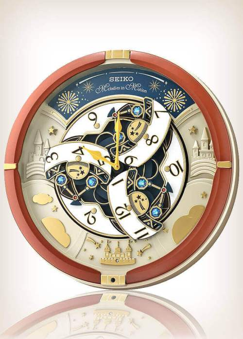 Seiko QXM378B Brown Case Melodies in Motion Clock