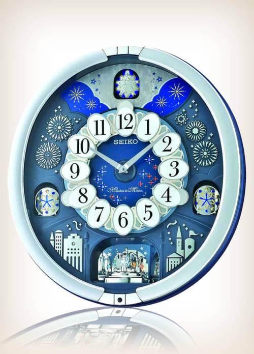 Seiko QXM379SRH Metallic Musical Motion Clock