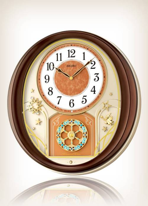 Seiko QXM553BRH Mim-Wall Melody in Motion Clock