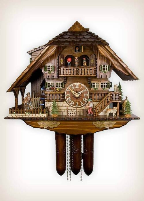 Adolf Herr 840/1 Woodsman Hunter Cuckoo Clock