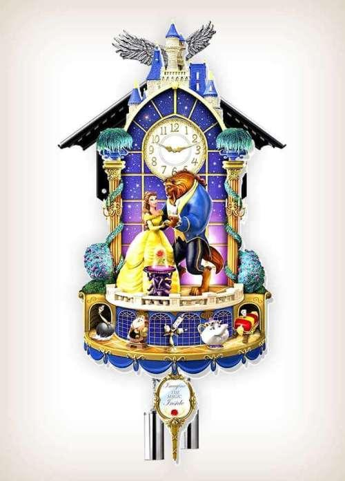 Disney Beauty and the Beast clock