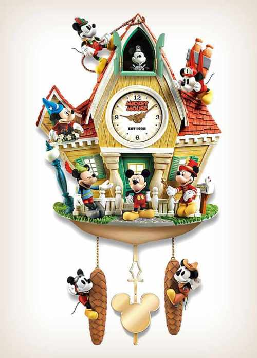 Mickey Mouse Cuckoo Clock Through The Years