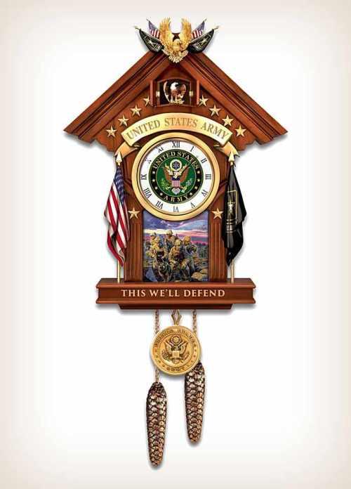 United States Military Time Cuckoo Clock